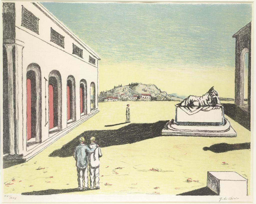 Giorgio de Chirico, Ricordo d'autunno, 1969, Sammlung Gilbert Kaplan, New York.