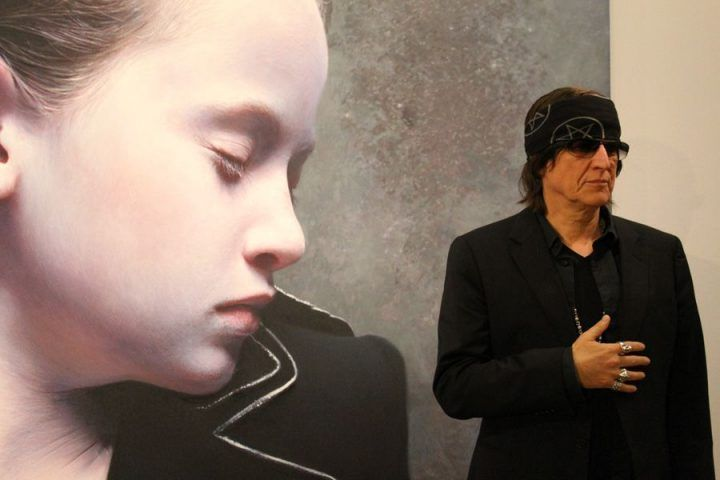 Gottfried Helnwein in der Albertina, Foto: Alexandra Matzner.