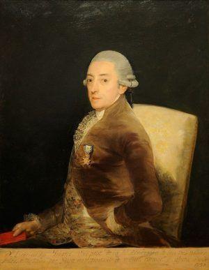Francisco de Goya, Bernardo de Iriarte, 1797, Öl auf Leinwand, 108 x 84 cm (Straßburg, Musée des Beaux-Arts de la Ville de Strasbourg).