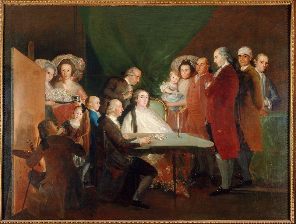 Francisco de Goya, Die Familie von Infant Don Luis de Borbón, 1783-1784, Öl auf Leinwand, 248 x 328 cm (Fondazione Magnani Rocca, Parma, Italy 197 © Fondazione Magnani Rocca, Parma, Italy).