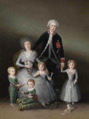 Francisco de Goya, Der Herzog und die Herzogin von Osuna und ihre Kinder, 1788, Öl auf Leinwand, 225 x 174 cm (Museo Nacional del Prado. Madrid, P00739 © Madrid, Museo Nacional del Prado).