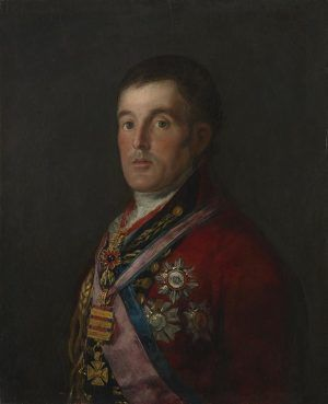 Francisco de Goya, Der Herzog von Wellington, 1812-14, Öl auf Mahagoni, 64.3 x 52.4 cm (The National Gallery, London).