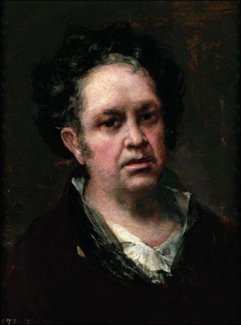 Francisco de Goya, Selbstportrait, 1815, Öl auf Leinwand, 45.8 × 35.6 cm (Museo Nacional del Prado. Madrid).
