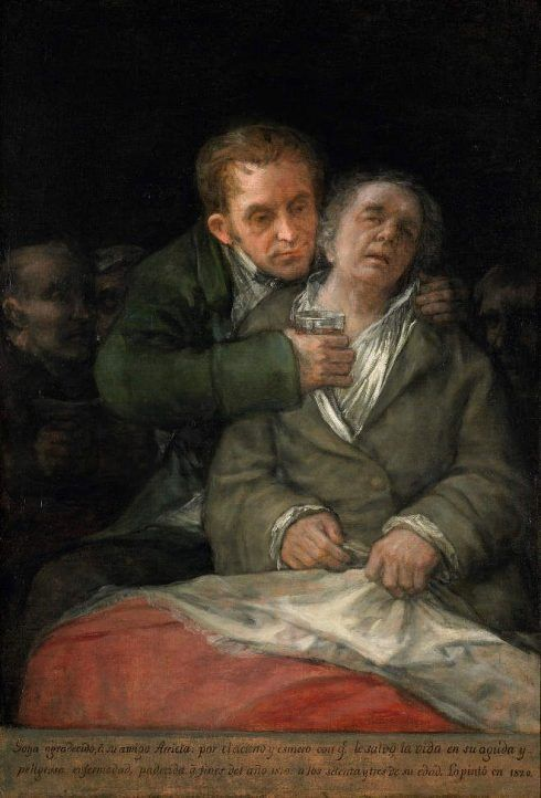 Francisco de Goya, Selbstporträt mit Doktor Arrieta, 1820, Öl auf Leinwand, 114.6 × 76.5 cm (© The Minneapolis Institute of Arts, Minnesota, The Ethel Morrison Van Derlip Fund).