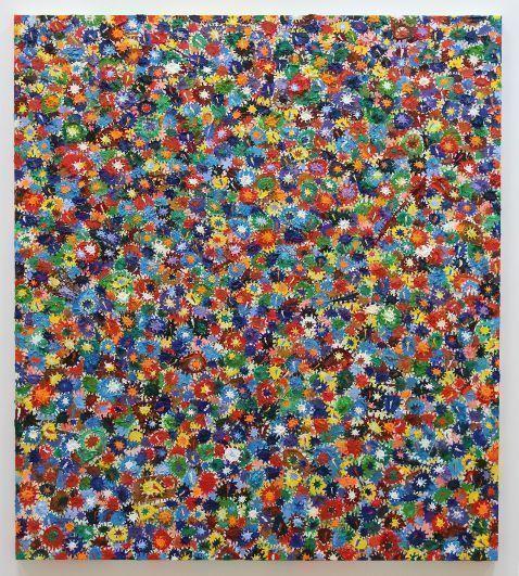 Gunter Damisch, Weltflimmerdichte, 2013, Öl auf Leinwand, 180 x 160 cm, Foto: Alexandra Matzner.