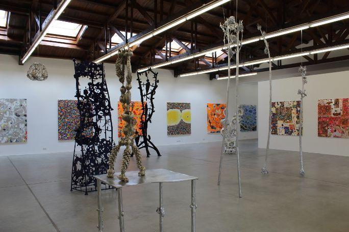 Gunter Damisch bei Galerie HILGER NEXT, 1100 Wien, 2014, Foto: Alexandra Matzner.