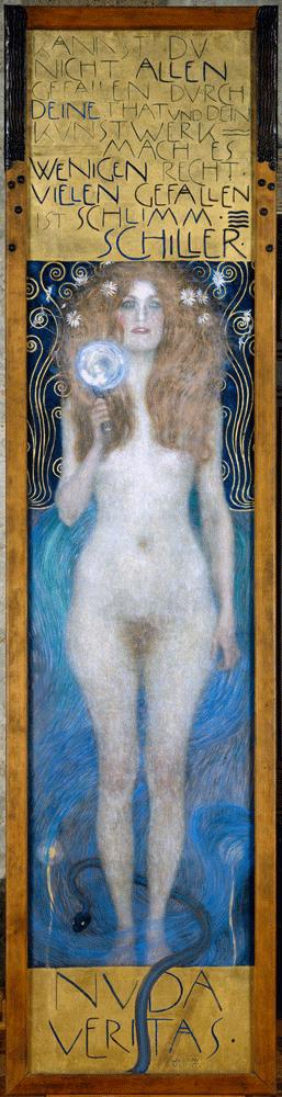 Gustav Klimt, Nuda Veritas, 1899 © Österreichisches Theatermuseum.