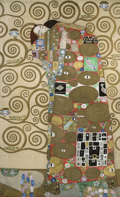Gustav Klimt, Entwurfszeichnung für den Stoclet-Fries, 1910-11, Erfüllung © MAK/Georg Mayer.