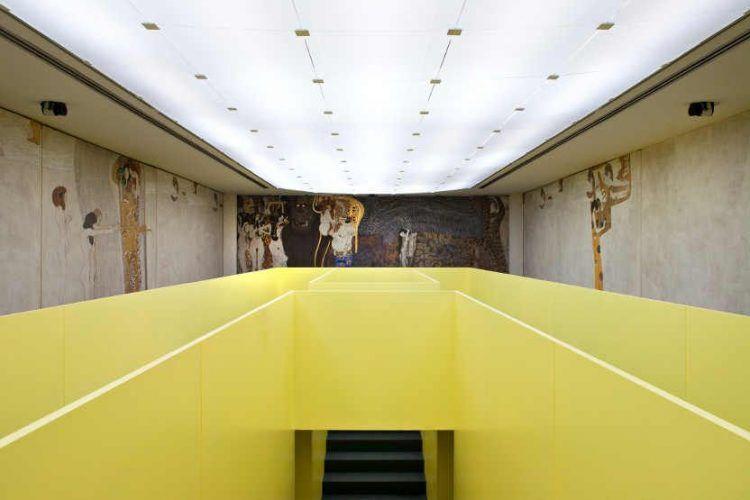 Gerwald Rockenschaub, Plattform und Gustav Klimt, Beethoven Fries, Secession 2012, Foto: Wolfgang Thaler.