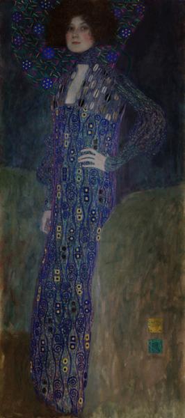 Gustav Klimt, Porträt Emilie Flöge, 1902, Öl auf Leinwand © Wien Museum.