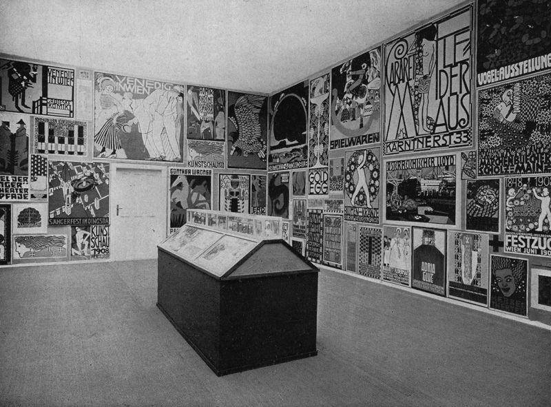 Raum für Plakatkunst, in: Zeitschrift für bildende Kunst, Neue Folge, XIX, Leipzig, 1908, S. 25.
