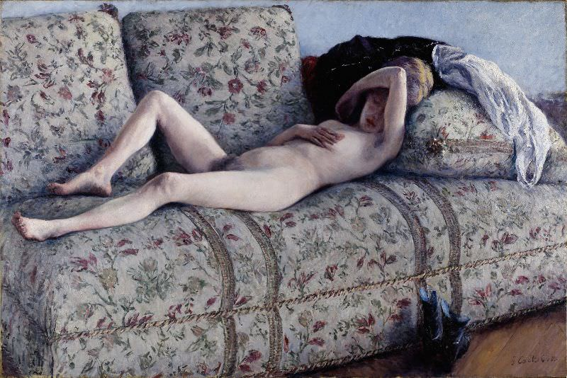 Gustave Caillebotte, Akt auf dem Sofa, 1880, Öl auf Leinwand, 129,54 × 195,58 cm (Lent by The Minneapolis Institute of Arts, The John R. Van Derlip Fund)