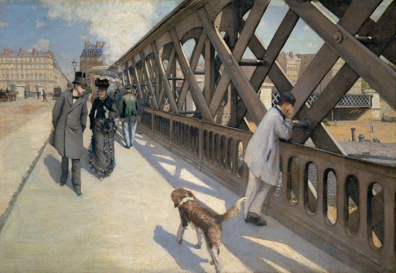 Gustave Caillebotte, Le Pont de l'Europe, Paris, 1876, Öl auf Leinwand, 125 x 180 cm (© Association des Amis du Petit Palais, Genève, Foto: © Studio Monique Bernaz, Genève)