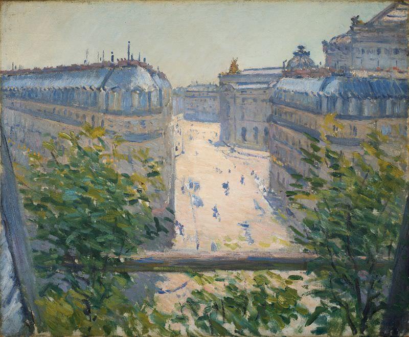 Gustave Caillebotte, Die Rue Halévy, von einem Balkon gesehen, 1878, Öl auf Leinwand, 60 × 73,2 cm (Joan and Bernard Carl, Washington DC).