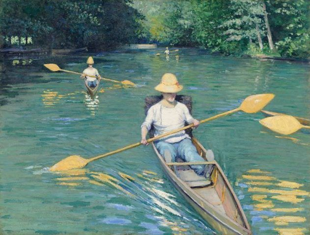 Gustave Caillebotte, Kanus, 1877, Öl auf Leinwand, 88,9 x 116,2 cm (National Gallery of Art, Washington, Collection of Mr. and Mrs. Paul Mellon)