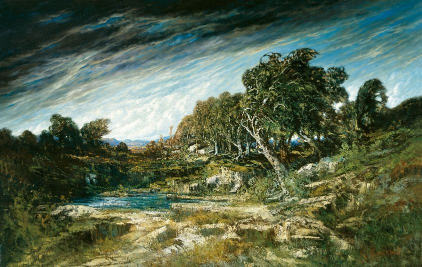 Gustave Courbet, Windstoss im Wald von Fontainebleau, Öl auf Leinwand, 146,7 x 230,8 cm, The Museum of Fine Arts, Houston, Ankauf mit Mitteln von Caroline Wiess Law, Foto: Thomas R. DuBrock.