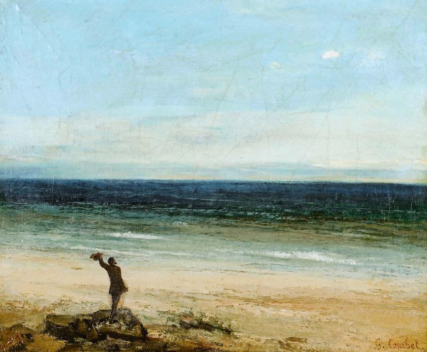 Gustave Courbet, Meeresküste bei Palavas, 1854, Öl auf Leinwand, 38 x 46,2 cm, Musée Fabre, Montpellier Agglomération © Musée Fabre, Montpellier Agglomération / Frédéric Jaulmes.