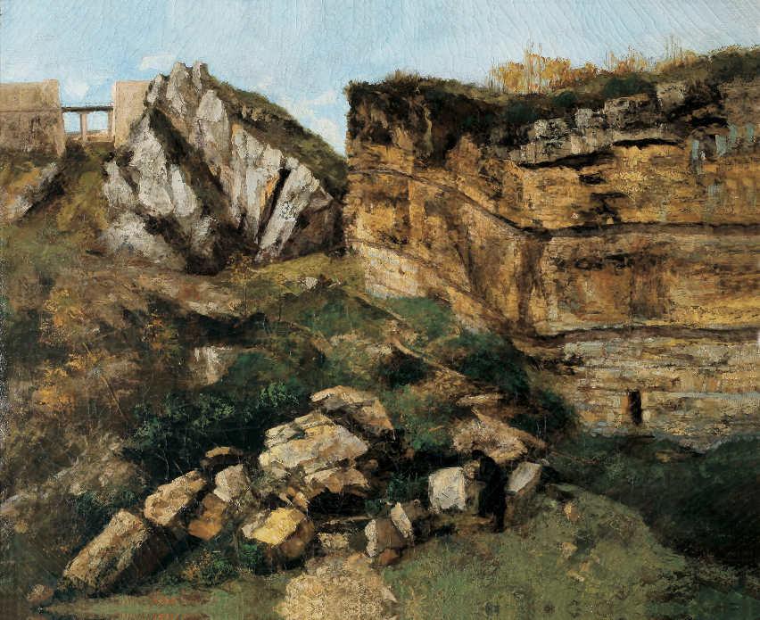 Gustave Courbet, Der Roche Pourrie. Geologische Studie, Öl auf Leinwand, 60 x 73 cm, Musée Max Claudet, Salins-les-Bains, Foto: Henri Bertand.