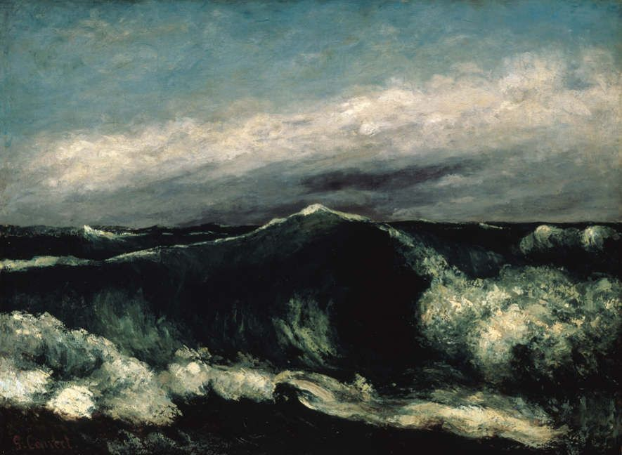 Gustave Courbet, Welle, Öl auf Leinwand, 65,4 x 88,7 cm, Brooklyn Museum, Schenkung von Mrs. Horace Havemeyer.
