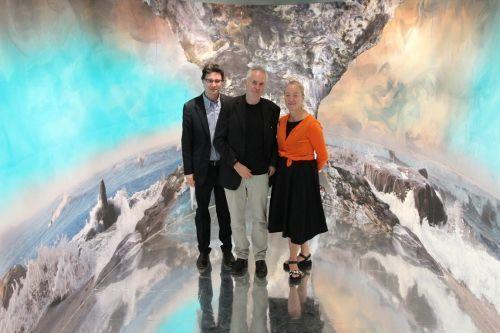 Mario Codognato, Hans Weigand, Agnes Husslein-Arco, 15.6.2015 im 21er Haus, Foto: Alexandra Matzner.