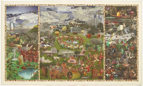 Hans Weigand, Garten der Lüste, 2007, Teppichdruck, 215 × 450 cm, Courtesy der Künstler.
