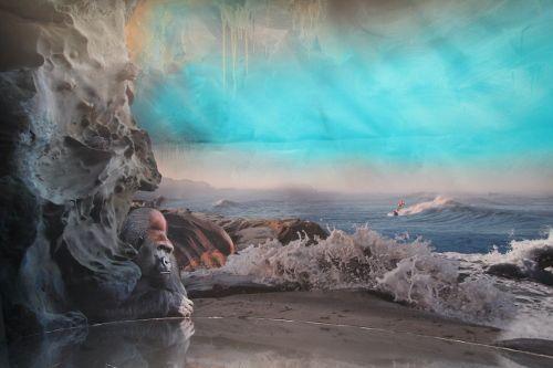 Hans Weigand, Panorama (Gorilla), 21er Haus, 2015 (c) Weigand, Foto: Alexandra Matzner.