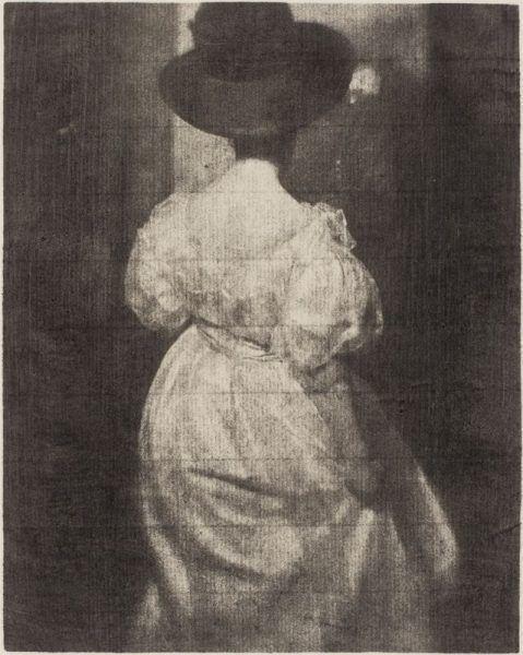 Heinrich Kühn, Mary Warner à contre-jour, 1908, Autochrome, 24 x 18 cm, Vienne, Österreichische Nationalbibliothek © Österreichische Nationalbibliothek, Bildarchiv, Vienne © Droits Réservés.
