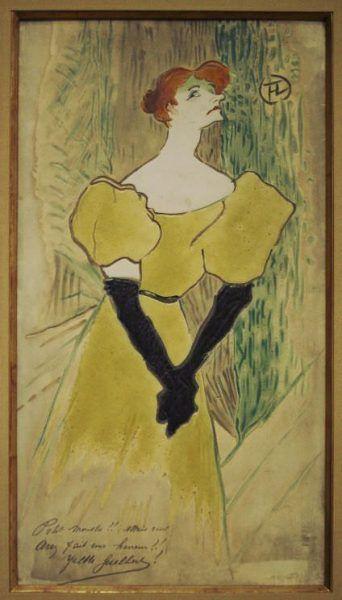 Henri de Toulouse-Lautrec, Yvette Guilbert, 1895 (Privatbesitz, New York)