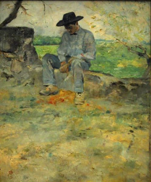 Henri de Toulouse-Lautrec, Der junge Routy in Céleyran, 1882 (Albi, Musée Toulouse-Lautrec)
