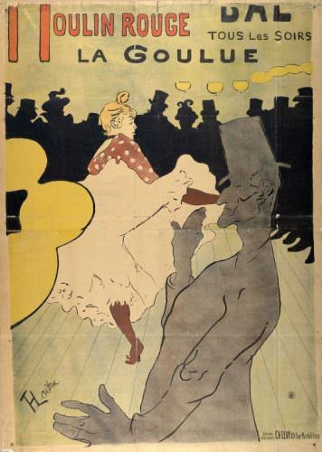 Henri de Toulouse-Lautrec, Moulin Rouge – La Goulue, 1891 (Albertina, Wien)