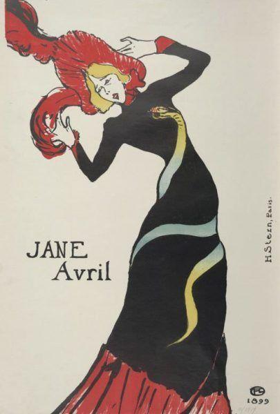 Henri de Toulouse-Lautrec, Jane Avril, 1899 (Albertina, Wien)