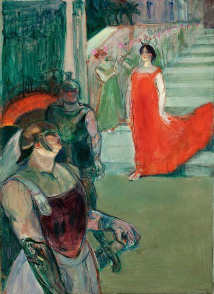 Henri de Toulouse-Lautrec, Messalina steigt die Treppe herab, 1900-01 (Los Angeles County Museum of Art)