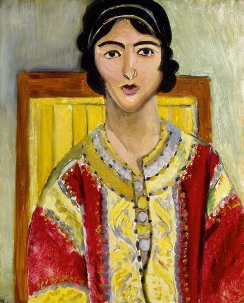 Henri Matisse, Odaliske, Brasero und Fruchtschale, 1929, Lithografie, Privatsammlung.