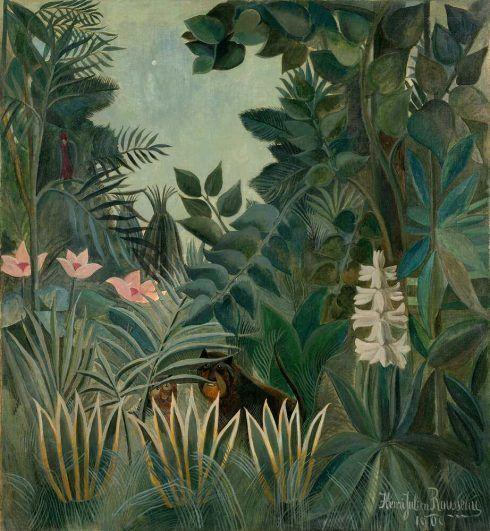 Henri Rousseau, Der äquatorial Jungel, 1909, Öl auf Leinwand (Chester Dale Collection)