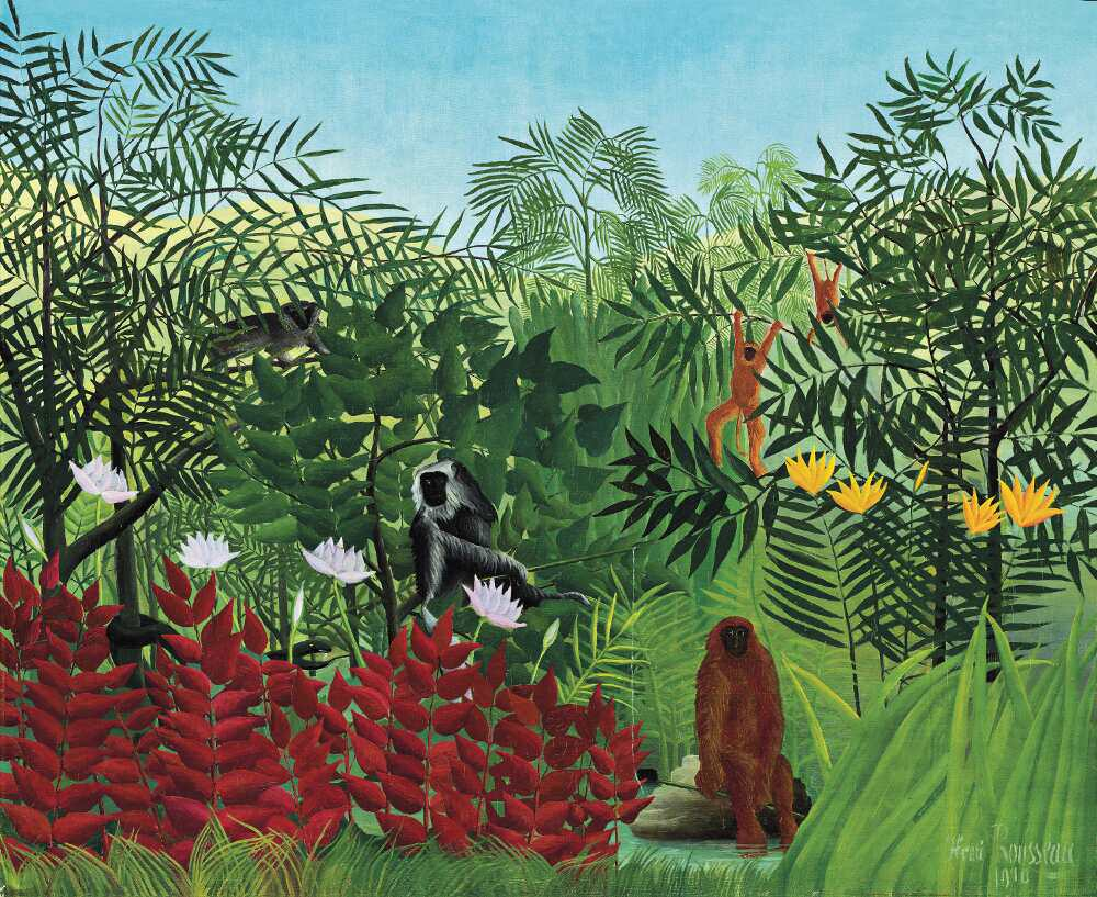 Henri Rousseau, Tropischer Wald mit Affen, 1910 (National Gallery of Art, Washington)