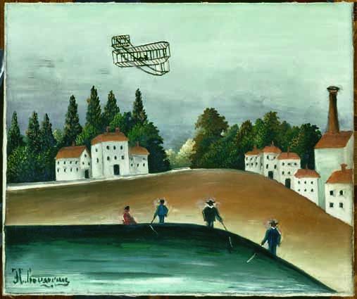 Henri Rousseau, Die Angler, 1908–1909, Öl auf Leinwand, 46 x 55 cm, Paris, Musée de l'Orangerie, Collection J. Walter- P. Guillaume © RMN-Grand Palais (Musée d'Orsay)/Hervé Lewandowski.