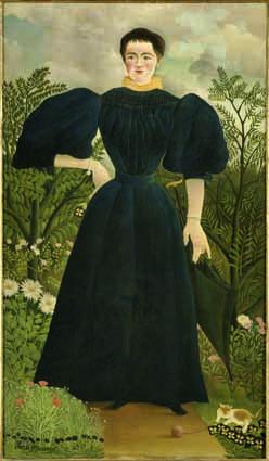 Henri Rousseau, Porträt von Madame M., um 1890, Öl auf Leinwand, 198 x 114,5 cm, Paris, Musée d'Orsay © RMN-Grand Palais (Musée d'Orsay)/Hervé Lewandowski.