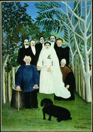 Henri Rousseau, Die Hochzeit (Eine Landhochzeit), um 1905, Öl auf Leinwand, 163 x 114 cm, Paris, Musée de l'Orangerie, Collection J. Walter- P. Guillaume © RMN-Grand Palais (Musée d'Orsay)/Hervé Lewandowski.