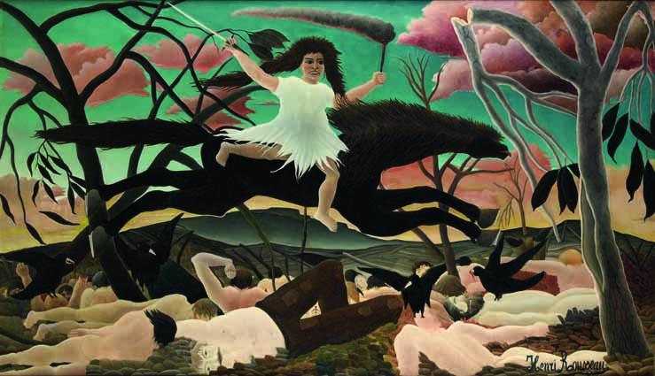 Henri Rousseau, Der Krieg oder Der Ritt der Zwietracht, um 1894, Öl auf Leinwand, 114 x 195 cm, Paris, Musée d'Orsay © RMN-Grand Palais (Musée d'Orsay)/Tony Querrec.