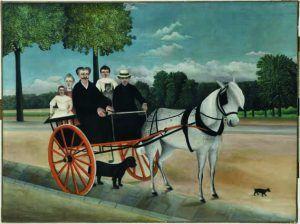 Henri Rousseau, Der Wagen von Père Junier, 1908, Öl auf Leinwand, 97 x 129 cm, Paris, Musée de l'Orangerie, Collection J. Walter- P. Guillaume © RMN-Grand Palais (Musée de l'Orangerie)/Franck Raux.