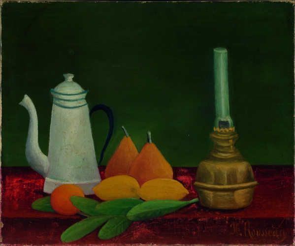 Henri Rousseau, Stillleben, 1910, Öl auf Leinwand, 38 x 46 cm, Privatsammlung, Schweiz.