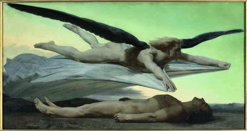 William Bouguereau (La Rochelle, 1825–1905), Gleichheit vor dem Tod, 1848, olio su tela, 141 x 269 cm, Paris, Musée d'Orsay © Musée d'Orsay, Dist. RMN-Grand Palais/Patrice Schmidt.
