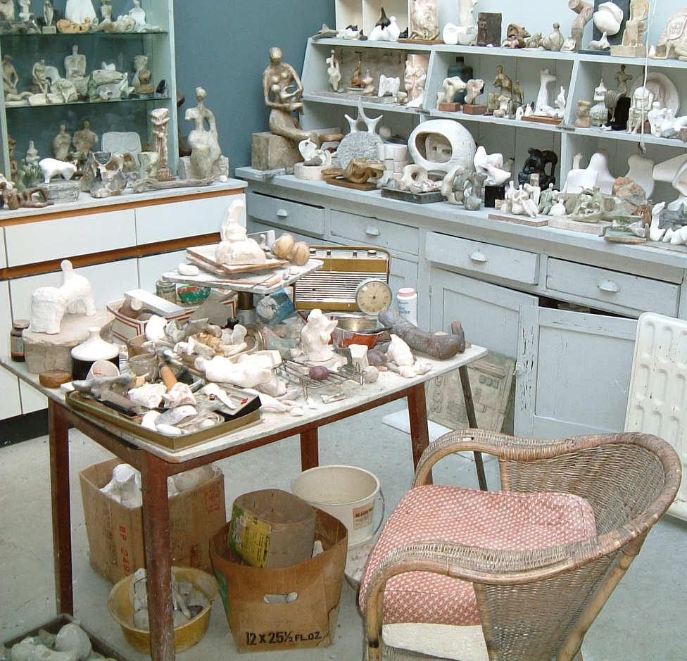 Henry Moore, Das Atelier - Bourne Maquette Studio (Atelier für Modelle und Entwürfen)