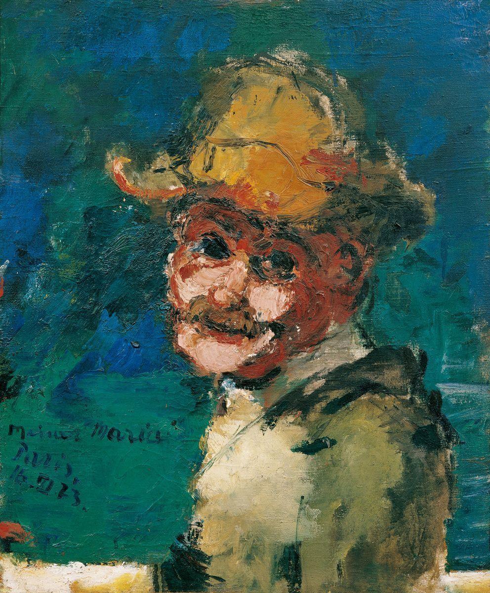 Herbert Boeckl, Selbstbildnis, 1923, Öl auf Leinwand, 61 x 50 cm (Belvedere, Wien) © Herbert Boeckl - Nachlass, Wien.