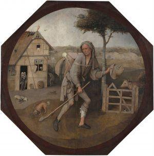 Hieronymus Bosch, Der Landstreicher, Öl auf Eichenholz, 71,3 x 70,7 cm (Museum Boijmans Van Beuningen, Rotterdam, Inv.-Nr. 1079)