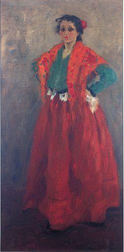 Alexej von Jawlensky, Helene im spanischen Kostüm, um 1901/02 © Museum Wiesbaden.