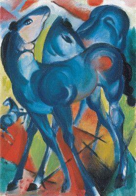 Franz Marc, Die blauen Fohlen, 1913, Kunsthalle Emden – Stiftung Henri und Eske Nannen und Schenkung Otto van de Loo.
