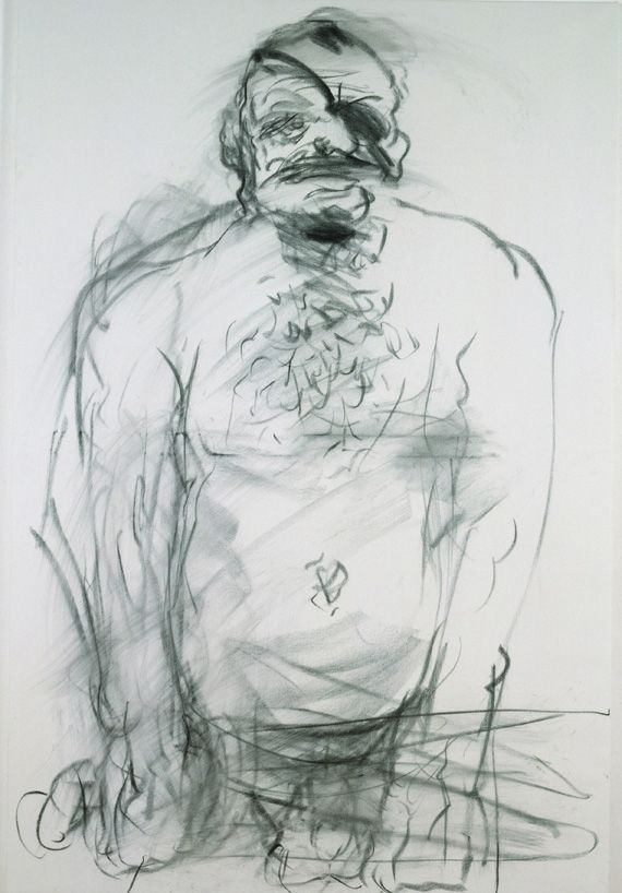 Alfred Hrdlicka, Tronje von Hrdlicka, 2000, Kohle auf Leinwand, 150 x 100 cm; Foto: © Markus Krottendorfer.