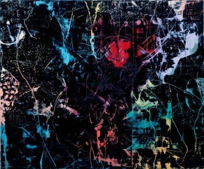 """Hubert Scheibl, """"Das ist eine sehr schöne Zeichnung, Dave..."""" (aus der Serie """"2001: Odysee im Weltraum""""), 2008, Öl auf Leinwand, 350 x 420 cm © Hubert Scheibl - Foto: Mischa Nawrata, Wien."""