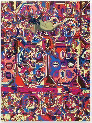 Hubert Schmalix, No Apologies, 2014, Öl auf Leinwand, 175 x 130 cm, Privatbesitz, Bildrecht: © Courtesy Hubert Schmalix, Foto: © Farid Sabha.